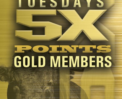 Stockmen's Casino, Commercial Casino, Scoreboard | Tuesdays 5x Points Gold Members