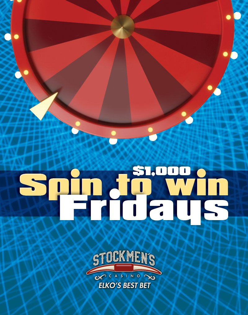 $1,000 Spin to Win Fridays